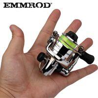 EMMROD HOT Mini100 Moulinet de pêche en spinning en alliage de pêche Petit dévidoir 4.3: 1 Roue en métal pesca Petit dévidoir Y18100706