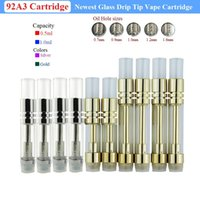 Lo nuevo Pyrex Glass Vape Tank Glass Drip Tip 92A3 Cartucho de oro BUD Touch CE3 A3 510 Rosca Dual Coil Cartridges para Think Oil