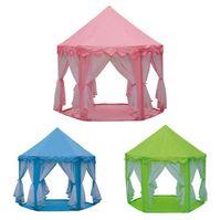 INS 어린이 휴대용 장난감 텐트 공주 성 게임 플레이 텐트 활동 요정 하우스 재미 실내 야외 스포츠 플레이 하우스 장난감 아이 선물