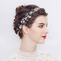 Romantische Klar Strass Kopfschmuck Braut Kristall Tiara Mode Handgefertigte Rosa Schmuck Perlen Hochzeit Haarschmuck Frauen Haarschmuck
