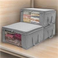 HOT Foldable Storage Bag Organizers Large Clear Window Carry Handles Storage Bags Home Storage & Organization Housekeeping & Organization