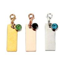 Kundenspezifischer Name Keychain - personalisiert für Frauen Mädchen Kinder - Custom Birthstone Namensschild Name Bar Edelstahl Silber Gold Roségold
