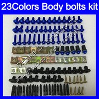 Fairing Bolts Full skruvkit för Kawasaki ZX2R ZXR250 93 94 95 ZX2R ZXR 250 ZX-2R ZXR-250 96 97 Kroppsmuttrar Skrupar Mutter Bolt Kit 25Colors