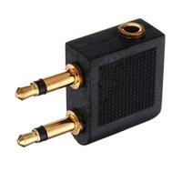 1pz 2X da 3,5 mm a 2 x 3,5 mm Stereo Ear Audio Adapter Jack per aereo Aircraft Airline Airplane per cuffia