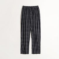 Pantalon de pyjama New Man 's avec patte de boutonnage Lattice Home Wear Pantalon long Coton Relaxed Comfortable Sleepwear Pantalon Pyjama Homme