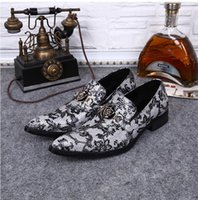 2018 New style Handmade Formal Mens Dress Shoes Genuine Leat...