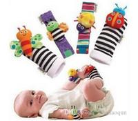 2019 bester Verkauf Neue Ankunft Sozzy Handgelenk Rassel Fuß Finder Baby Spielzeug Baby Rassel Socken Lamze Plüsch Handgelenke Rassel + Fuß Baby Spielzeug 1Set = 4 stücke