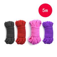 5m de long de long de la corde de coton fort de la corde de coton fort de la corde sexe de serrage d'esclavage harnais corde corde corde corde corde corde corde corde corde corde corde cordes jeux d'adultes flirter jouets pour femmes hommes 4 couleurs