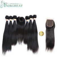 Fairgreat 6bundles Remy Human hair Straight & body wave With...