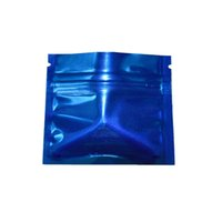 Sacchetti di imballaggio della chiusura lampo blu risigillabile di 7.5x6cm 200pcs sacchetti di imballaggio del tè piccolo foglio di alluminio piccolo sacchetto di avvolgimento della chiusura lampo della prova dell'odore