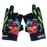 3 guanti da pesca taglia-dita blu nero verde colore anti-skid tattica di combattimento knuckle fingerless guanti mezze dita