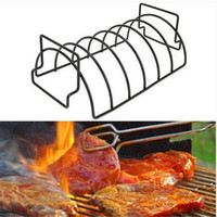 Ventes!!! Non-Stick Métal Fil BBQ Grill Support à Steak Torréfaction Rib rack outil de cuisine outil grill barbecue fournitures Barbecue