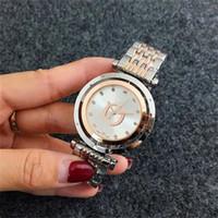 Estilo conciso Última moda Cuarzo Reloj de pulsera Mujer Diamantes escala Reloj dial círculo giro Reloj dial, venta al por mayor envío gratuito