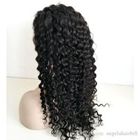 Deep Curly Human Hair Full Lace Wigs Pre Plucked Natural Hai...