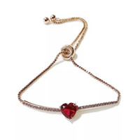 Bracciale Ins in Corea del Sud del 1990 Dolce ragazza Red Love Sen's Simple Pull Out Steel Seal Anti-Counterfeiting