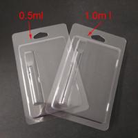 Einzelhandel Patrone Verpackung Plastik Clam-Shell-Blister-Verpackung für 0,5 ml / 1 ml Vape Cartridges 92a3 G2 th205 Vapor Verpackung 510 Wagen Verpackung