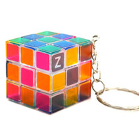 3x3x3cm Mini Magic Cube Puzzle Keychain Magic Game magic Squ...