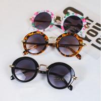 Gafas de sol para niños Ronda Vintage Gafas de sol Niños Niñas Diseñador Adumbral Moda Niños Gafas de sol Summer Beach Gafas de protección solar 30 par