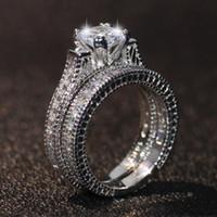 Victoria Wieck Hot Top Selling New Arrival Bijoux fantaisie Vintage or blanc 14 carats Rempli taille princesse Gemstones Topaz nuptiaux Bague