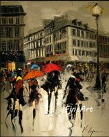 handmade oil painting wholesale discount impression paris st...