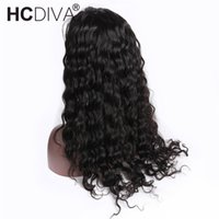 HCDIVA Loose Deep Wave Lace Front Human Hair Wigs for Black ...