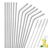 8. 5 9. 5 10. 5 inch 6mm reusable drinking straw food grade sta...