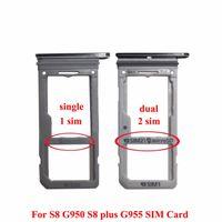 100% neue Double Single Sim Micro SD Speicherkarte Tray Halter Slot Ersatz für Samsung Galaxy S8 G950 VS S8 Plus G955 50 STÜCKE