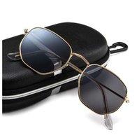 ZXWLYXGX Vintage Altıgen Güneş gözlüğü Kadınlar Erkekler Retro Sürüş Ayna Güneş Gözlükleri Kadın Erkek