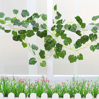 Creative Emulation Green Grape Leaves Ivy Leaf Rattan Living...