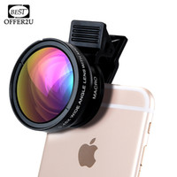 Professional HD Phone Camera Lenses 0. 45X Wide Angle 12. 5X M...