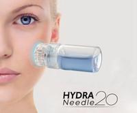 Hydra Naald 20 pins Titanium Microneedle Applicator Aqua Meso Derma Roller Naald-Gratis Mesotherapie Fijne aanraking Huidverzorging Verjonging
