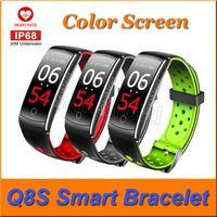 Q8S الذكية سوار اللياقة البدنية المقتفي معدل ضربات القلب ضغط الدم رصد IPS شاشة ملونة للماء الذكية الاسورة ووتش رخيصة