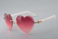 Óculos de sol de alta qualidade de alta qualidade, elegante atmosfera de alta qualidade Natural de madeira braços pés óculos de sol 8300686-A Tamanho: 58-18-140mm
