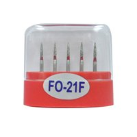 1 paquete (5 piezas) FO-21F Dental Diamond Burs Medium FG 1.6M para pieza de mano de alta velocidad dental Muchos modelos disponibles