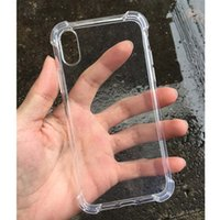 Para IPhone X 8 7 6 6S Plus Funda transparente a prueba de golpes Funda suave de Gel TPU Funda transparente para Apple phone