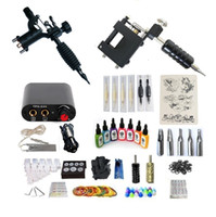 전문적인 문신 키트 2 기계 미니 전원 공급 장치 7 잉크 25 바늘 2 그립 클래식 매일