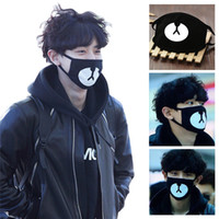 Cotton Mouth Face Mask Unisex Korean Style Kpop Black Bear C...