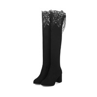For women lace over the knee Winter boots For women women&#0...