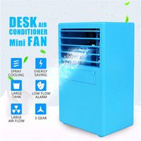 Cooling Air Conditioner Table Fan Mini Desktop Air Cooler 3 ...