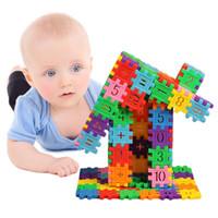 80 adet / takım Plastik Yapı Taşları Montessori Bebek Oyuncakları Çocuk Çocuk Dijital Geometrik Şekil Komik Eğitici Oyuncak Hediyel ...