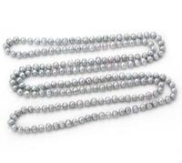 Collana di perle di mare del sud barocco grigio 10-12mm Collana di perle in oro 14k con chiusura in oro 14k