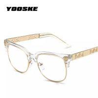 4c47610d1b YOOSKE Fashion Clear Sunglasses Women Men Optics Prescription Spectacles  Frames Vintage Plain Glass Eyewear Women Brand Designer
