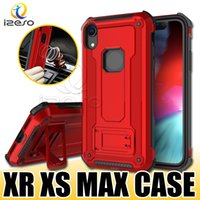 Per iPhone XS MAX XR X 8 7 6S Plus Samsung S10E S10 Plus Note 9 Casi Kickstand Cover antiurto per cellulare Hybrid Armor