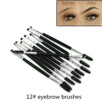Hot Makeup Eyebrow Brush Makeup Brushes Double Head Eyebrow ...