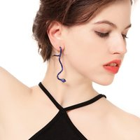 New creative personality set rhinestone snake ear clip Femal...