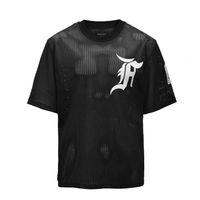 Boy ücretsiz kargo örgü Kısa Kollu adam Tshirt T Spor T Shirt Artı Boyutu Siyah Sokak Mens Tops