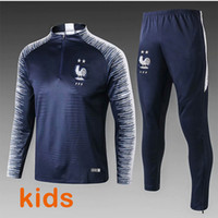 2018 kids French world cup champions tracksuit 2 stars Two h...