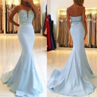 Lace Sweetheart Mermaid Evening Dresses 2018 Sexy Backless P...