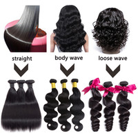 Brazilian Hair Bundles Body Wave Loose Wave Straight Human H...