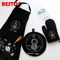 75x58cm Waterproof Japanese Style Black Planet Apron Pure Co...